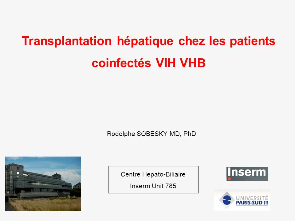 Transplantation hépatique chez les patients coinfectés VIH VHB