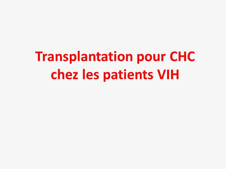 Transplantation pour CHC chez les patients VIH