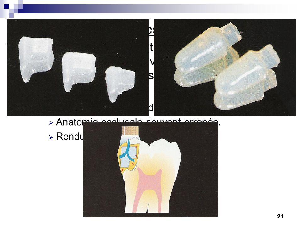 6) Inserts céramiques ou vitro-céramiques:
