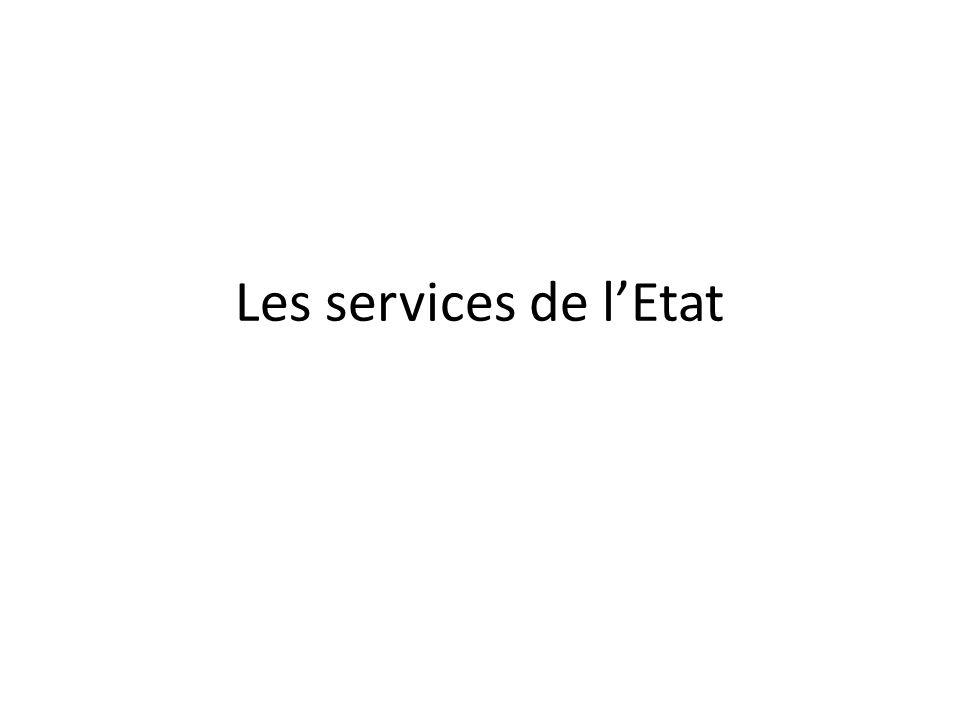 Les services de l'Etat