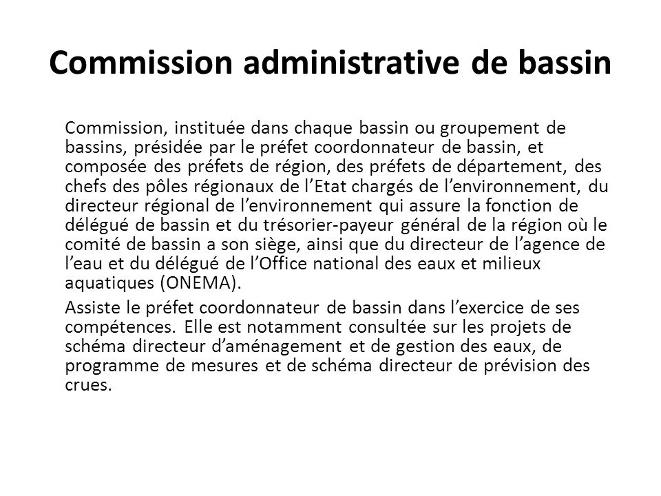 Commission administrative de bassin