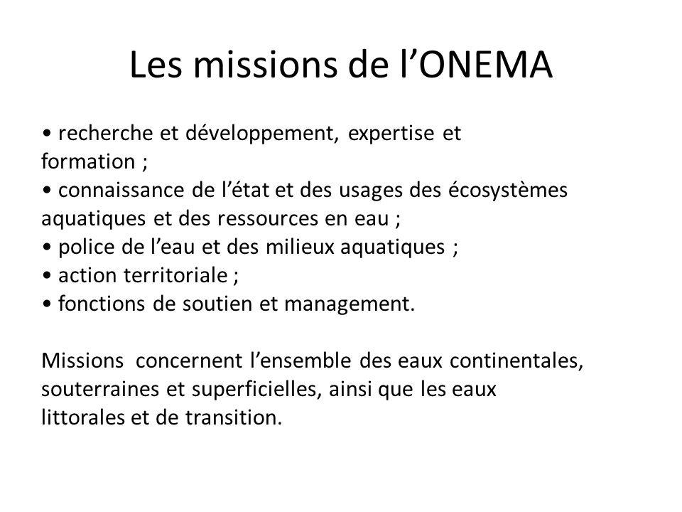 Les missions de l'ONEMA