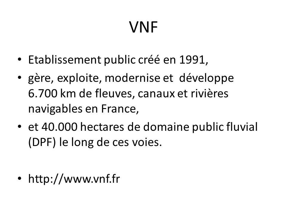 VNF Etablissement public créé en 1991,