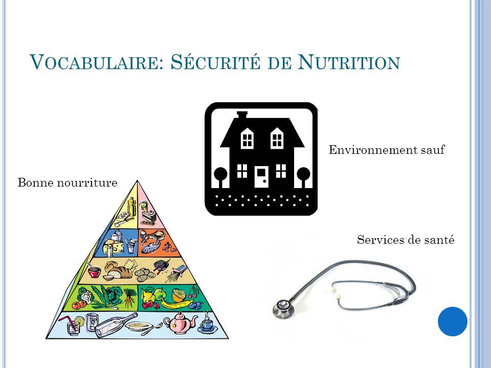 Vocabulaire: Sécurité de Nutrition