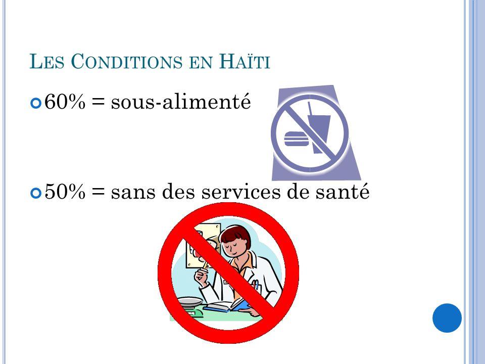 Les Conditions en Haïti