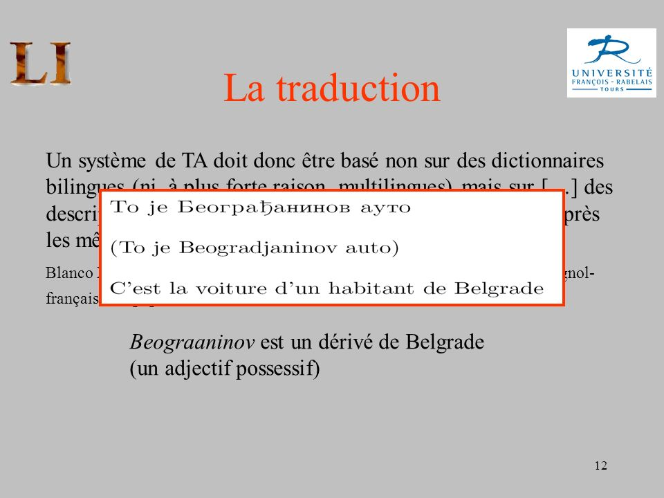 La traduction
