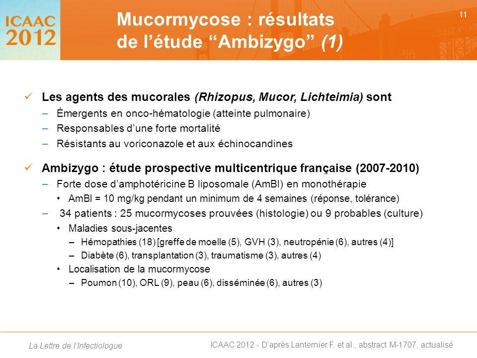 Mucormycose : résultats de l'étude Ambizygo (1)
