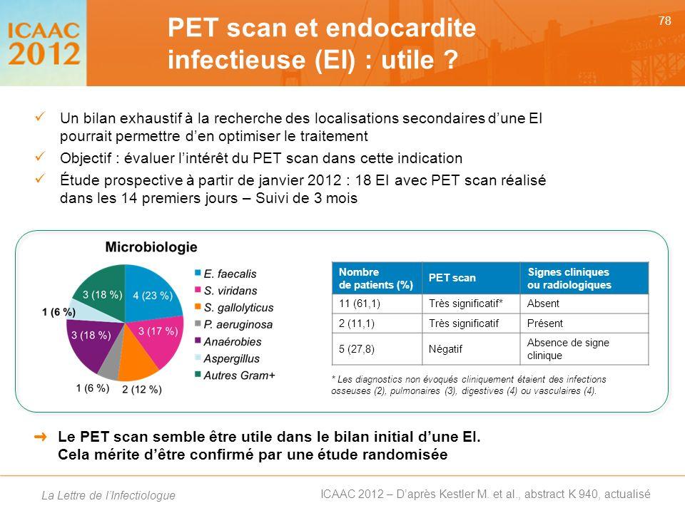 PET scan et endocardite infectieuse (EI) : utile