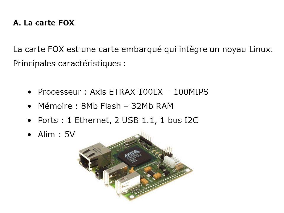 La carte FOX est une carte embarqué qui intègre un noyau Linux.