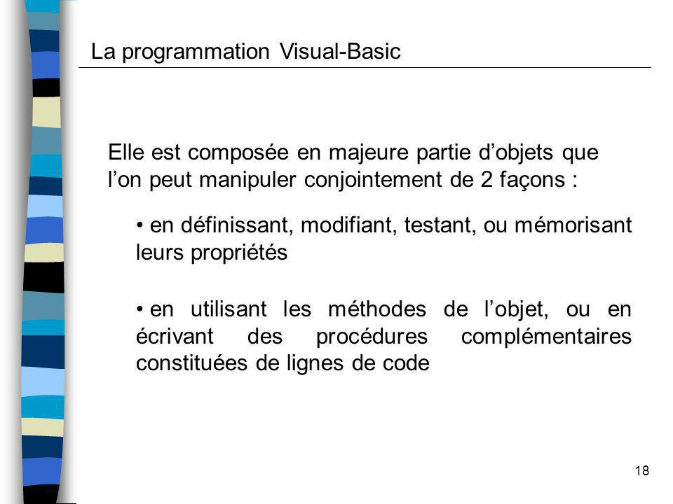 La programmation Visual-Basic