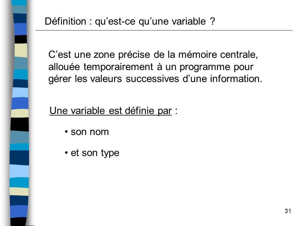 Définition : qu'est-ce qu'une variable