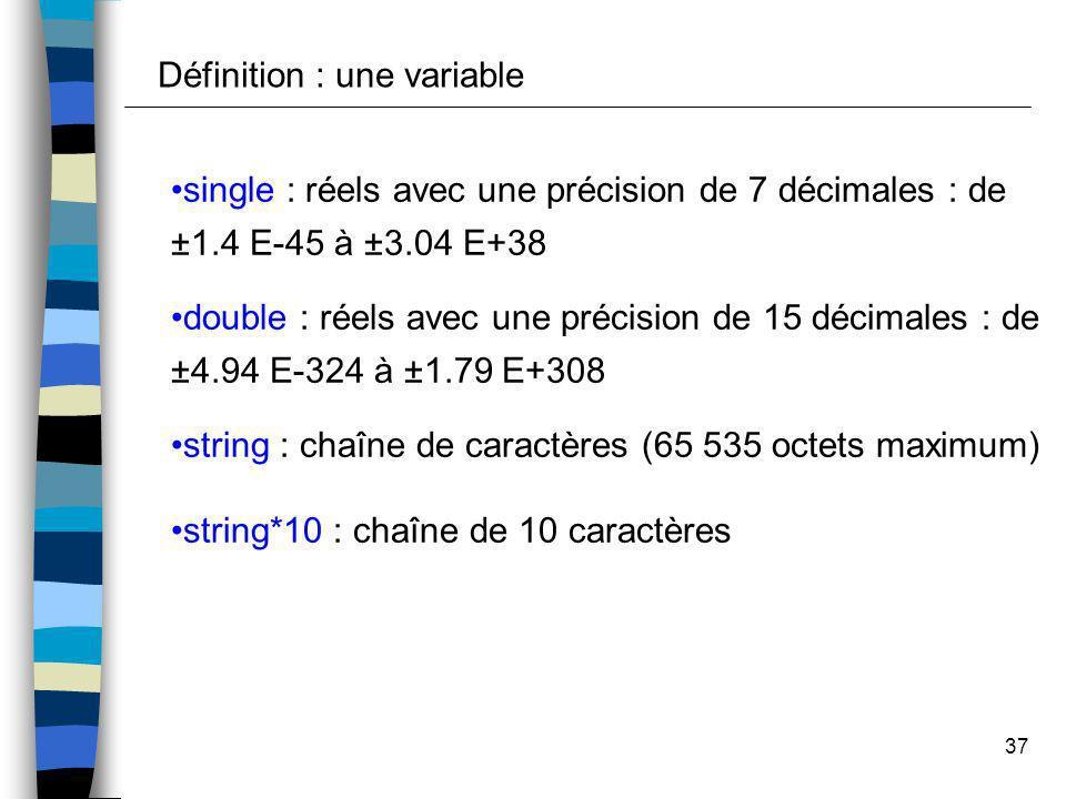 Définition : une variable