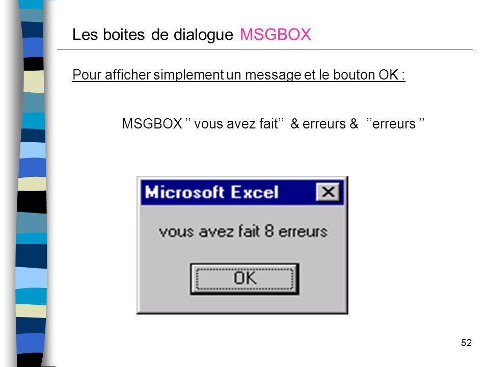 MSGBOX '' vous avez fait'' & erreurs & ''erreurs ''