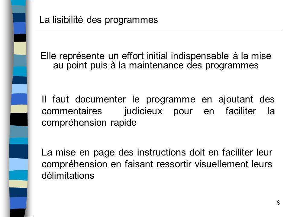 La lisibilité des programmes