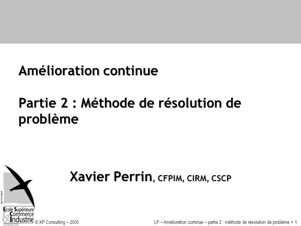 Amélioration continue Partie 2 : Méthode de résolution de problème