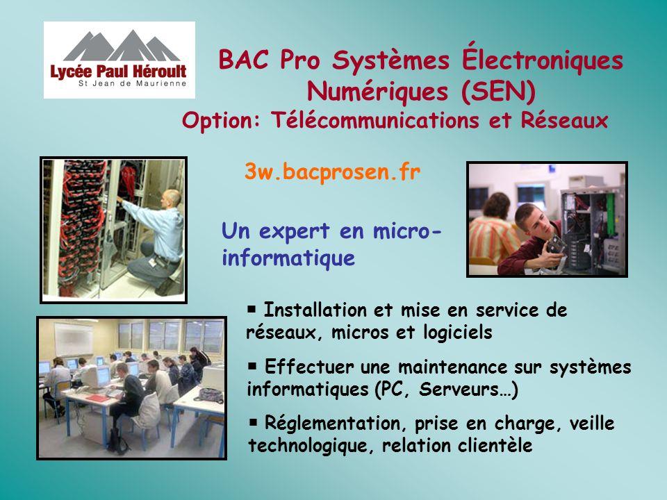 BAC Pro Systèmes Électroniques Numériques (SEN)