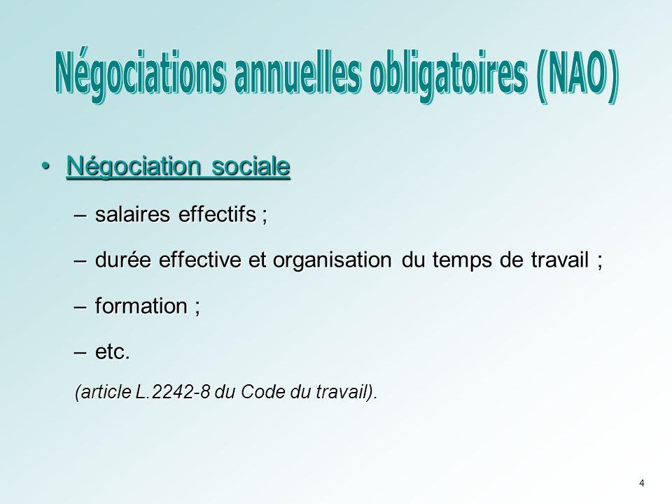 Négociations annuelles obligatoires (NAO)