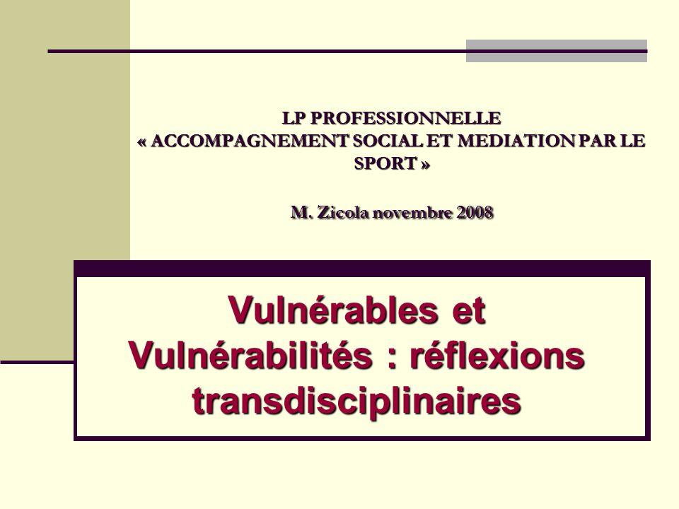 Vulnérables et Vulnérabilités : réflexions transdisciplinaires