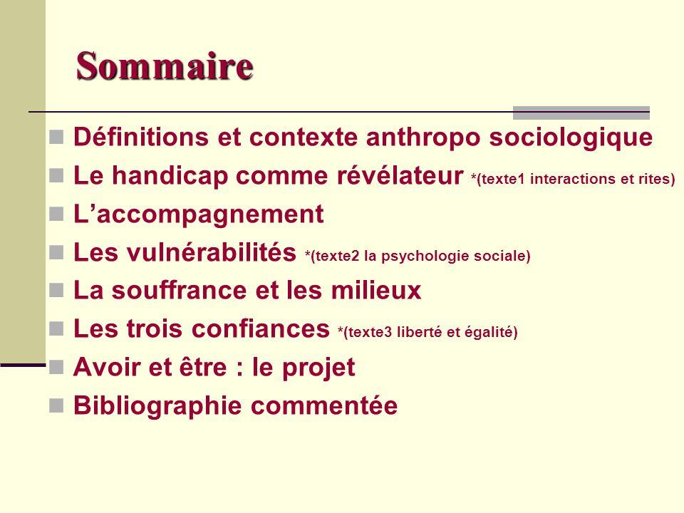 Sommaire Définitions et contexte anthropo sociologique