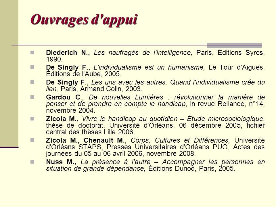 Ouvrages d appui Diederich N., Les naufragés de l intelligence, Paris, Éditions Syros, 1990.