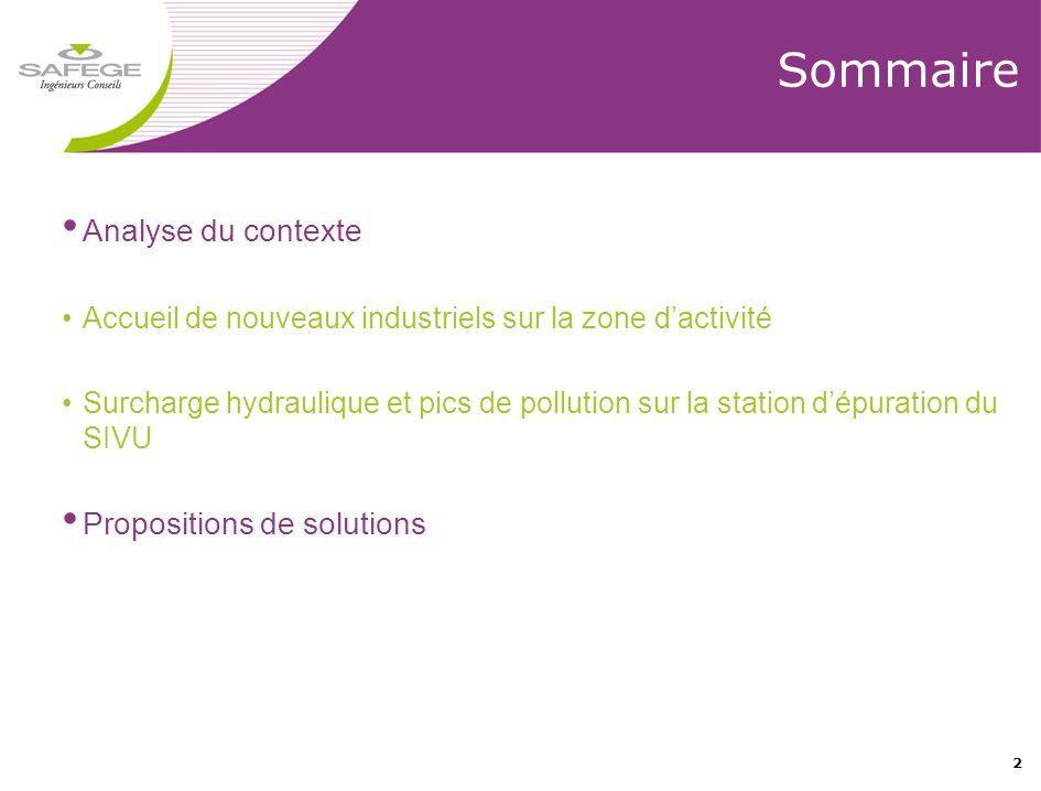 Sommaire Analyse du contexte Propositions de solutions