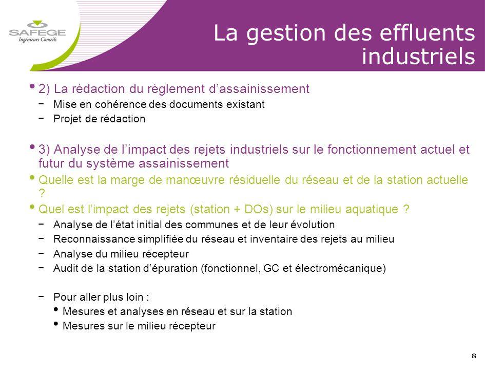 La gestion des effluents industriels