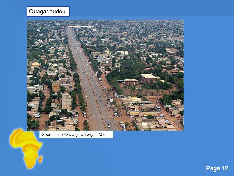 Ouagadoudou Source :http://www.glowa.org/fr, 2012.