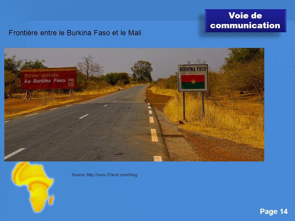 Voie de communication Frontière entre le Burkina Faso et le Mali