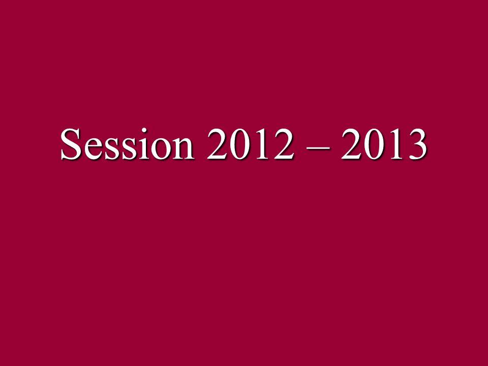 Session 2012 – 2013