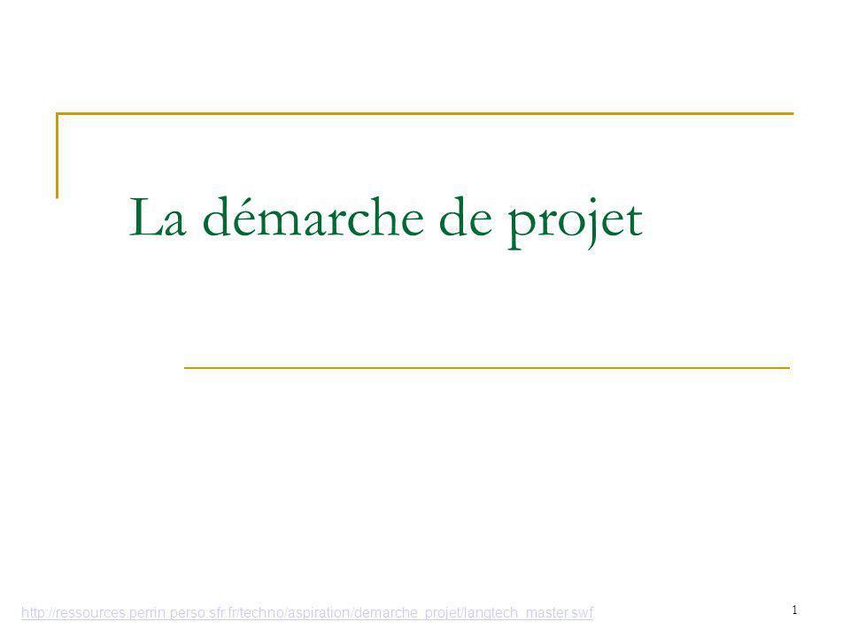 La démarche de projet La réalisation de A à Z d'un objet technique 1