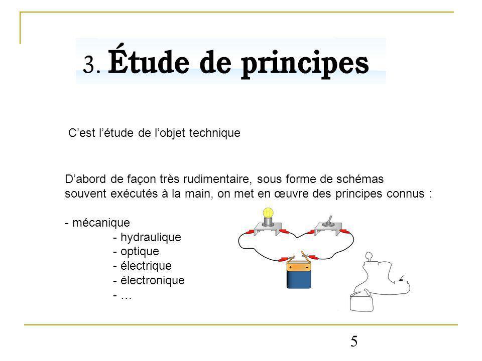 5 C'est l'étude de l'objet technique