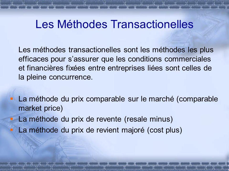 Les Méthodes Transactionelles