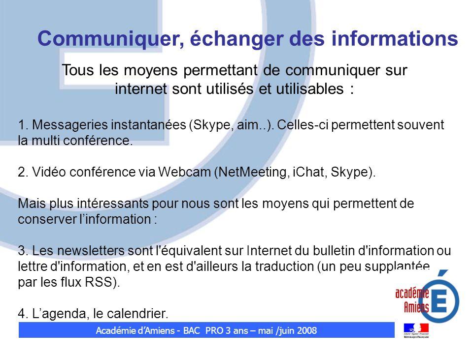 Communiquer, échanger des informations