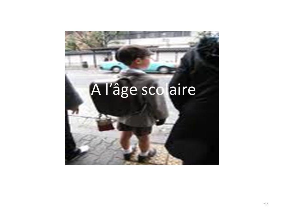 A l'âge scolaire
