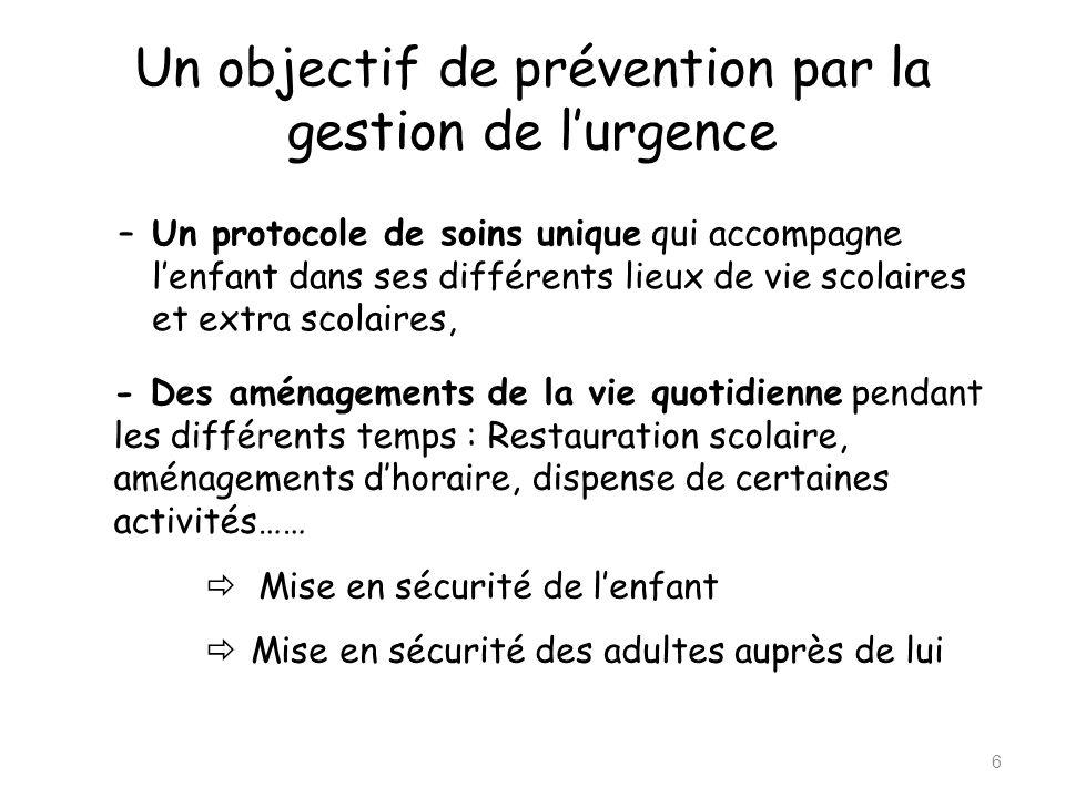 Un objectif de prévention par la gestion de l'urgence