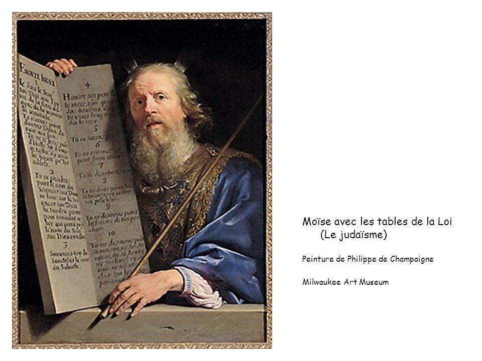 Moïse avec les tables de la Loi (Le judaïsme)