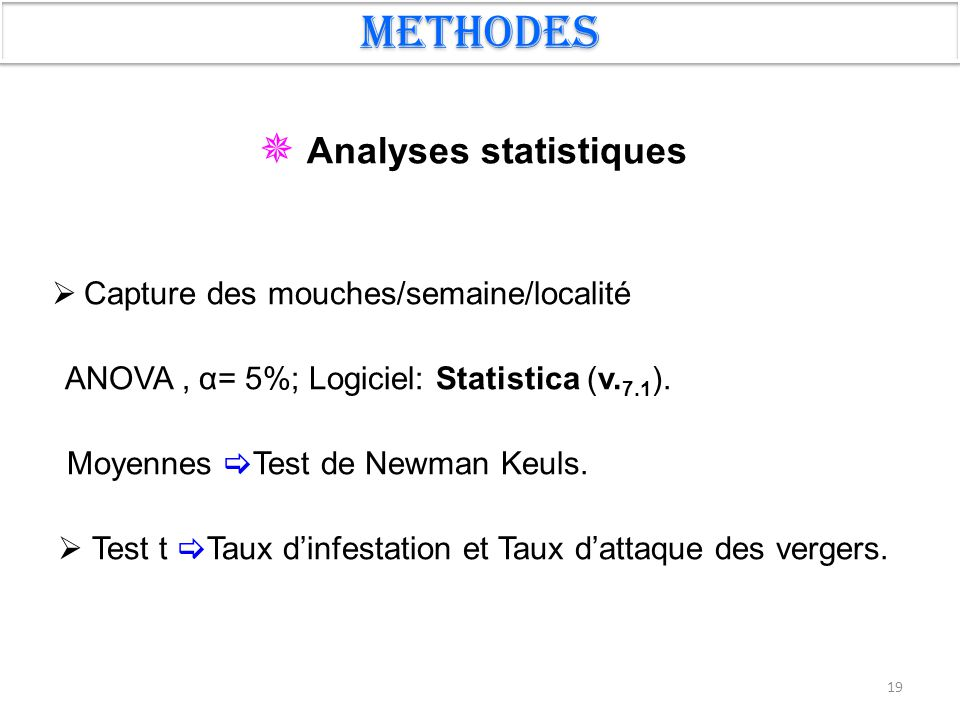  Analyses statistiques