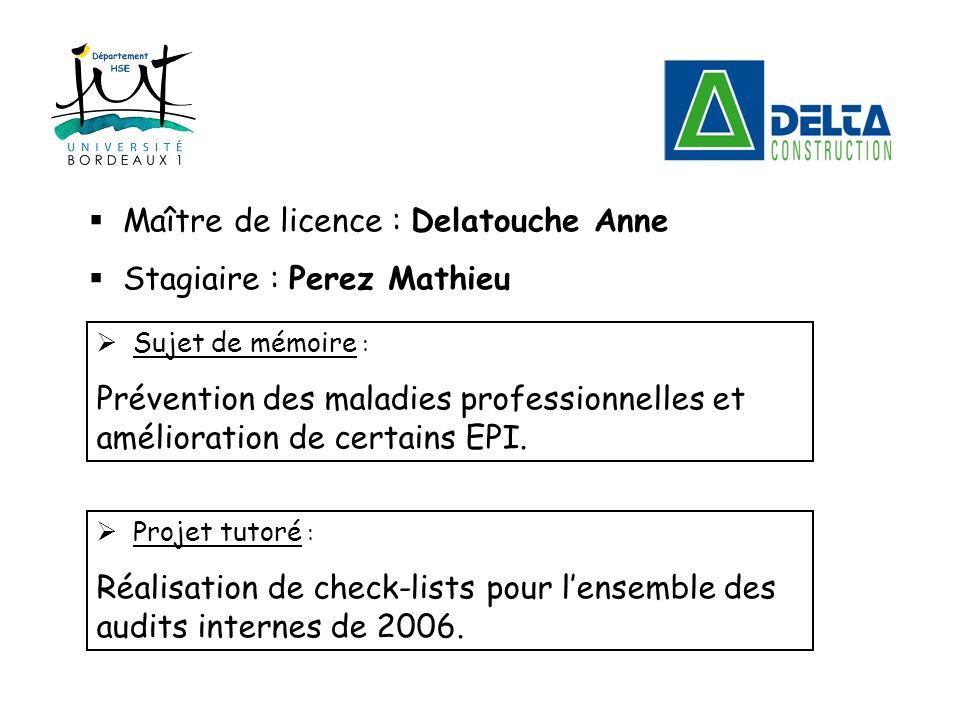 Maître de licence : Delatouche Anne