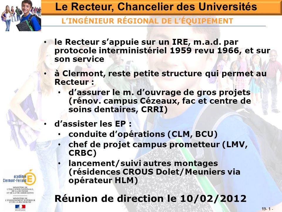 Le Recteur, Chancelier des Universités