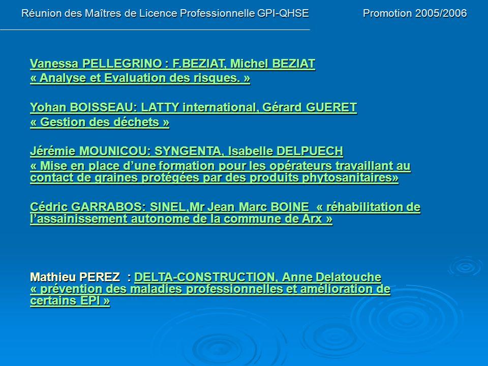 Vanessa PELLEGRINO : F.BEZIAT, Michel BEZIAT
