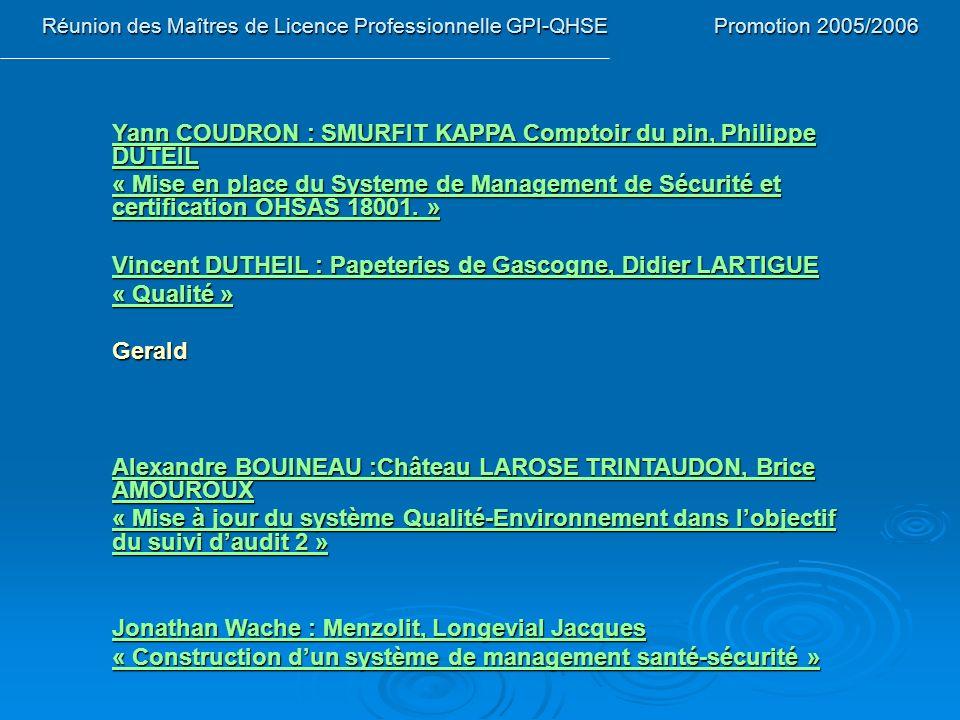 Yann COUDRON : SMURFIT KAPPA Comptoir du pin, Philippe DUTEIL