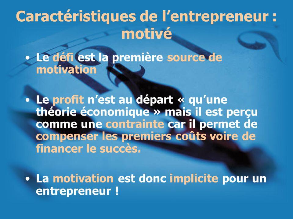 Caractéristiques de l'entrepreneur : motivé