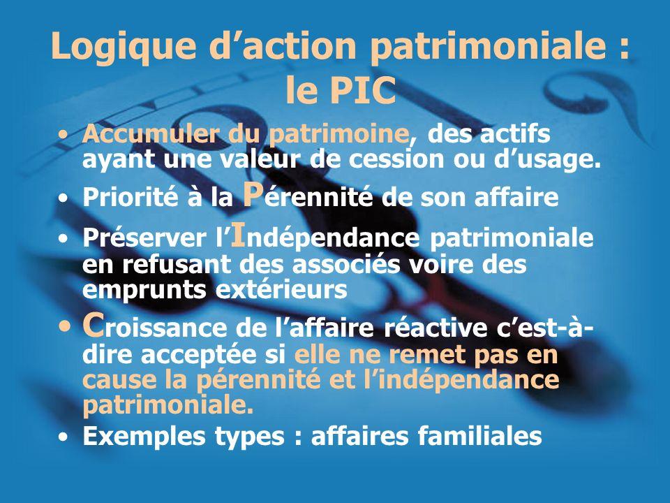 Logique d'action patrimoniale : le PIC