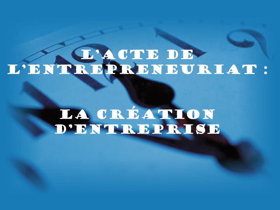 L'acte de l'Entrepreneuriat : la création d'entreprise