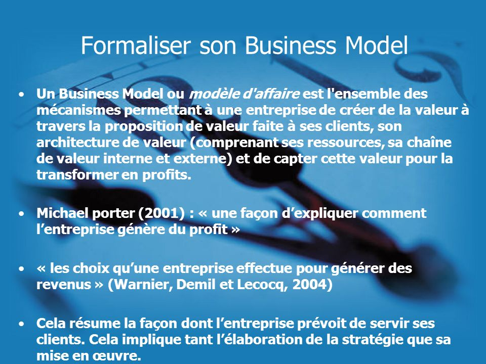 Formaliser son Business Model