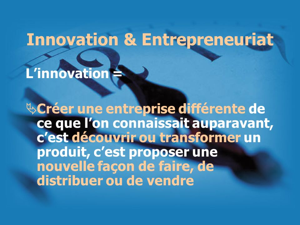 Innovation & Entrepreneuriat