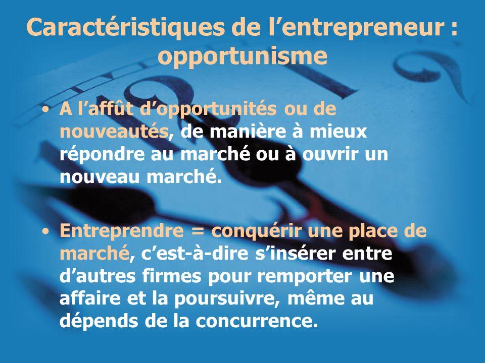 Caractéristiques de l'entrepreneur : opportunisme