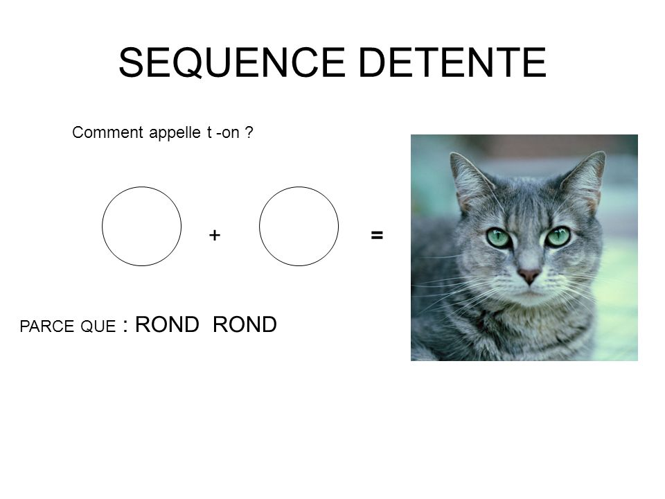 SEQUENCE DETENTE + = Comment appelle t -on