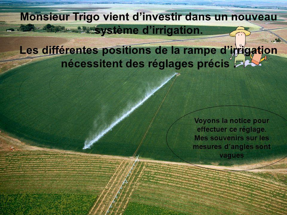 Monsieur Trigo vient d'investir dans un nouveau système d'irrigation.