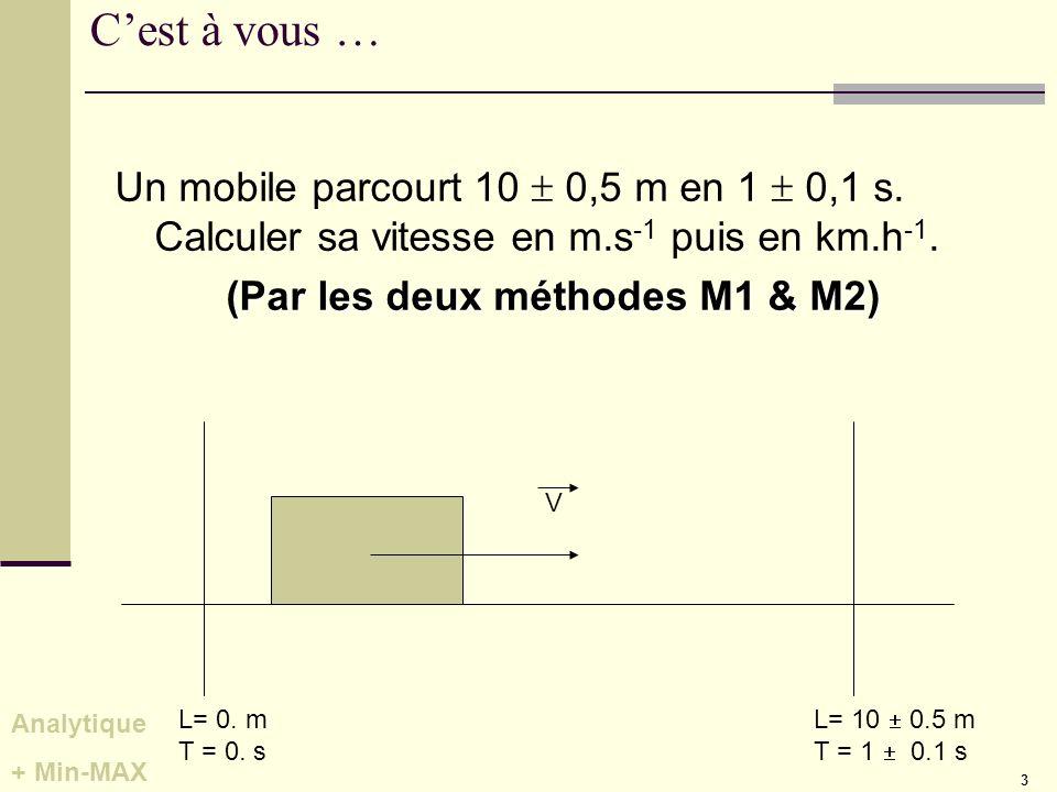 (Par les deux méthodes M1 & M2)